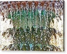 Water Fountain Bright Charleston Acrylic Print by Lori Kesten