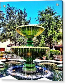 Water Fountain Acrylic Print by Carlos Avila