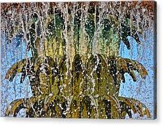 Water Fountain Light Charleston Acrylic Print by Lori Kesten