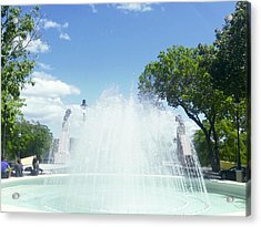 Water Fountain Ponce, Puerto Rico Acrylic Print