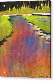 Water Garden Landscape 6 Acrylic Print by Melody Cleary