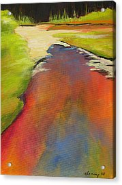 Water Garden Landscape 7 Acrylic Print by Melody Cleary