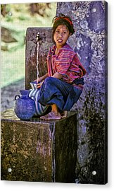 Water Girl Acrylic Print by Tina Manley