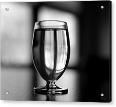 Acrylic Print featuring the photograph Water Glass I Bw by David Gordon