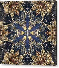 Acrylic Print featuring the mixed media Water Glimmer 3 by Derek Gedney