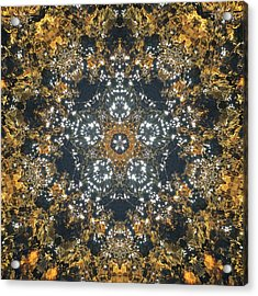 Acrylic Print featuring the mixed media Water Glimmer 5 by Derek Gedney
