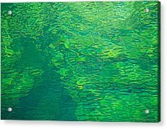 Water Green Acrylic Print