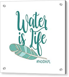 Water Is Life Nodapl Acrylic Print by Heidi Hermes