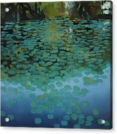 Water Lilies 3 Acrylic Print by Cap Pannell