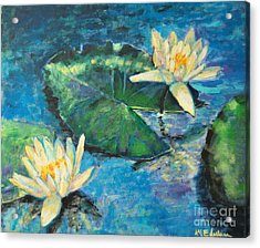 Acrylic Print featuring the painting Water Lilies by Ana Maria Edulescu