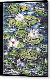 Water Lilies And Rainbows Acrylic Print
