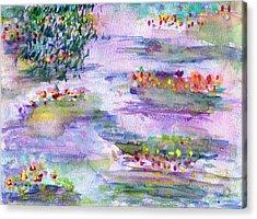 Water Lilies Acrylic Print by Janpen Sherwood