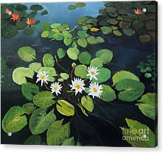 Water Lilies Acrylic Print by Kiril Stanchev