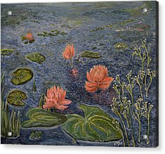 Water Lilies Lounge Acrylic Print by Felicia Tica