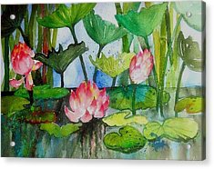Water Lillies Two Acrylic Print