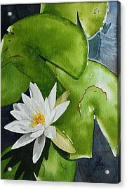 Acrylic Print featuring the painting Water Lilly by Gigi Dequanne