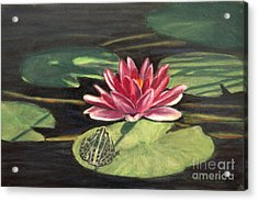 Water Lily Patio Acrylic Print