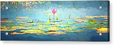 Water Lily - Tribute To Monet Acrylic Print