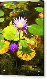 Water Lily Van Goh Acrylic Print