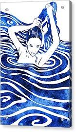 Water Nymph Iv Acrylic Print