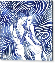 Water Nymphs Acrylic Print