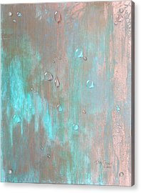 Water On Copper Acrylic Print