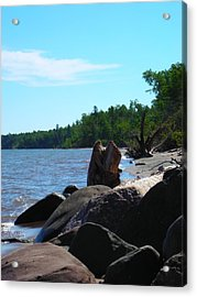 Water On The Rocks Acrylic Print by Peter Mowry