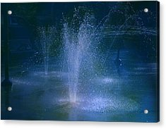Water Park At Night Acrylic Print by Brenda Myers