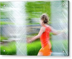 Water Park In The Summer Acrylic Print
