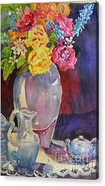 Water Pitcher Acrylic Print by Linda Rupard