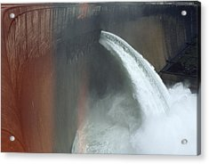 Water Pours Over The Kariba Dam Acrylic Print by James L. Stanfield