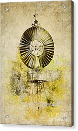 Acrylic Print featuring the photograph Water-pumping Windmill by Heiko Koehrer-Wagner