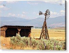 Water Pumping Windmill Acrylic Print