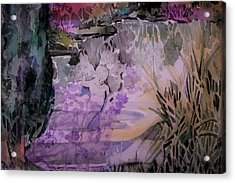 Acrylic Print featuring the painting Water Sprite by Mindy Newman