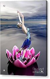 Acrylic Print featuring the digital art Water Sprite by Sandra Bauser Digital Art