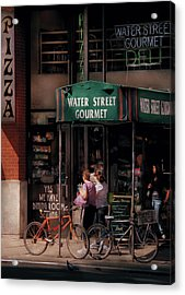Water St Gourmet Deli  Acrylic Print by Mike Savad