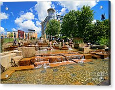 Water Steps North Shore Pittsburgh Pennsylvania Acrylic Print by Amy Cicconi