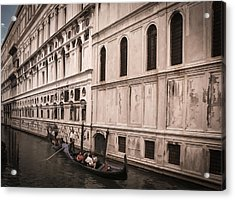 Water Taxi In Venice Acrylic Print by Kathleen Scanlan