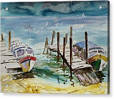 Water Taxis Acrylic Print by Xueling Zou
