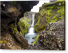 Water Through Lava Acrylic Print