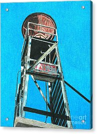 Water Tower Acrylic Print by Glenda Zuckerman