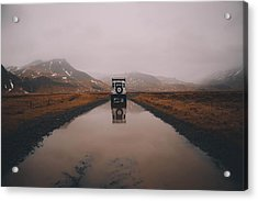 Water Tracks Acrylic Print