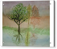Water Trees Acrylic Print by Hal Newhouser