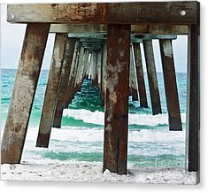 Water Under The Bridge Acrylic Print by Amanda  Sanford
