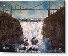 Water Under The Bridge Acrylic Print by Campbell Dickison