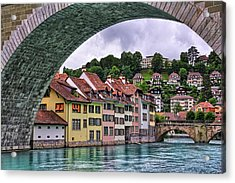 Water Under The Bridge In Bern Switzerland Acrylic Print by Carol Japp