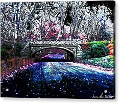 Acrylic Print featuring the photograph Water Under The Bridge by Iowan Stone-Flowers