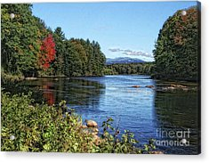 Acrylic Print featuring the photograph Water View In New Hampshire by Gina Cormier