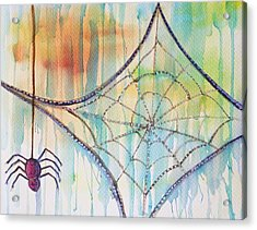 Acrylic Print featuring the painting Water Web by Angelique Bowman