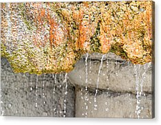 Water-worn Fountain Acrylic Print